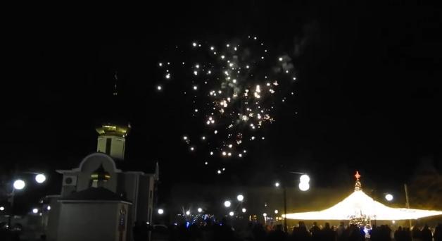 Новогодний салют в Межводном